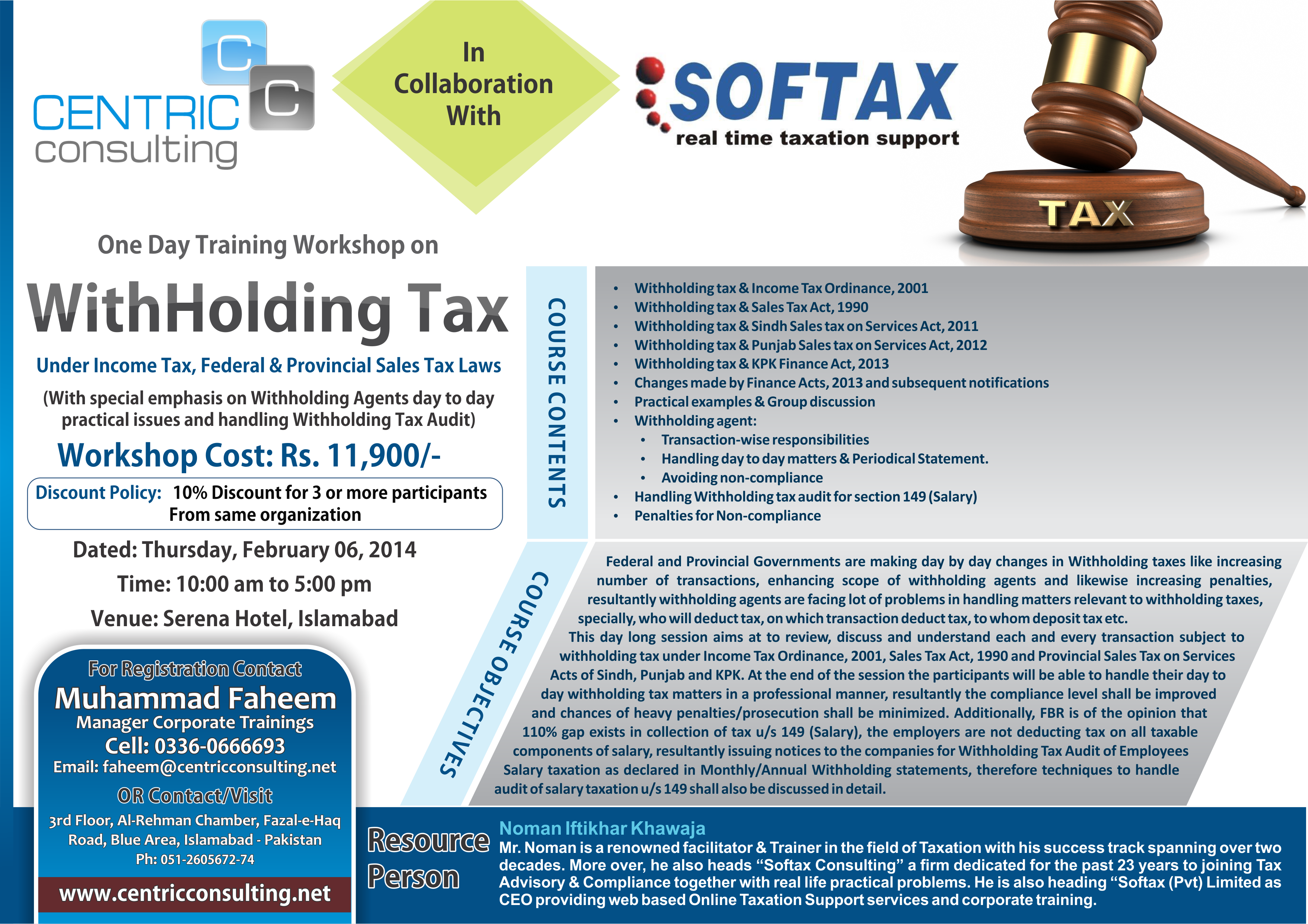 Softax - Real Time Taxation Support - Income Tax, Sales Tax